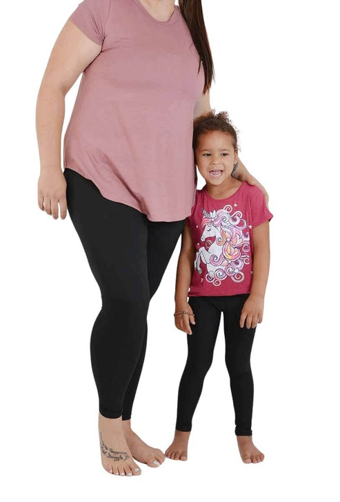 Solid Black Mommy and Me Set