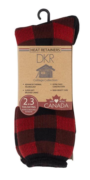 Buffalo Check Thermal Socks