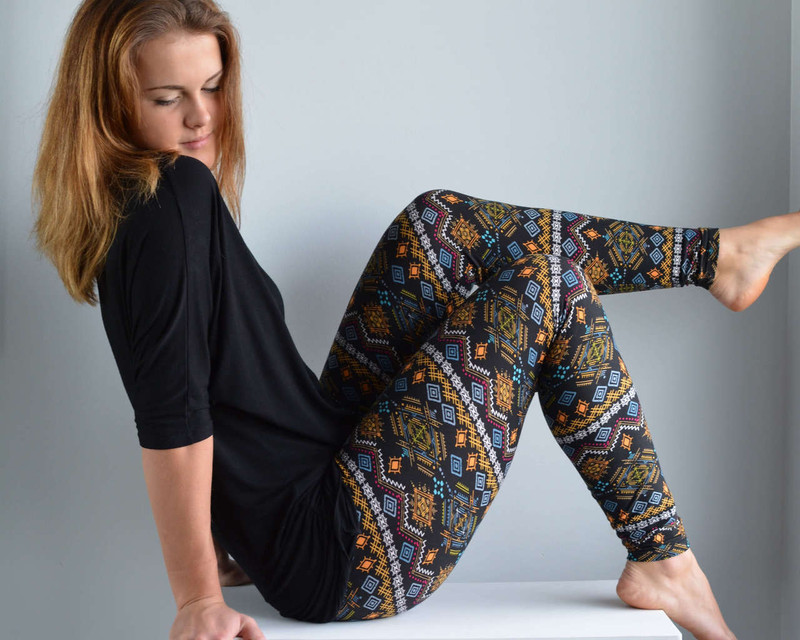 Flashback to garden parties with lanterns hanging from the trees, crocheted sweaters and sweet tea while someone played guitar in the distance. Wear these nostalgic leggings with flats or heels to go from hipster to haute.