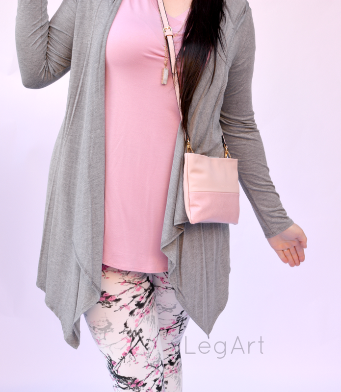 Hooded Cardi Heather Gray