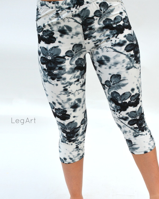 Nature's Gray Capri Leggings