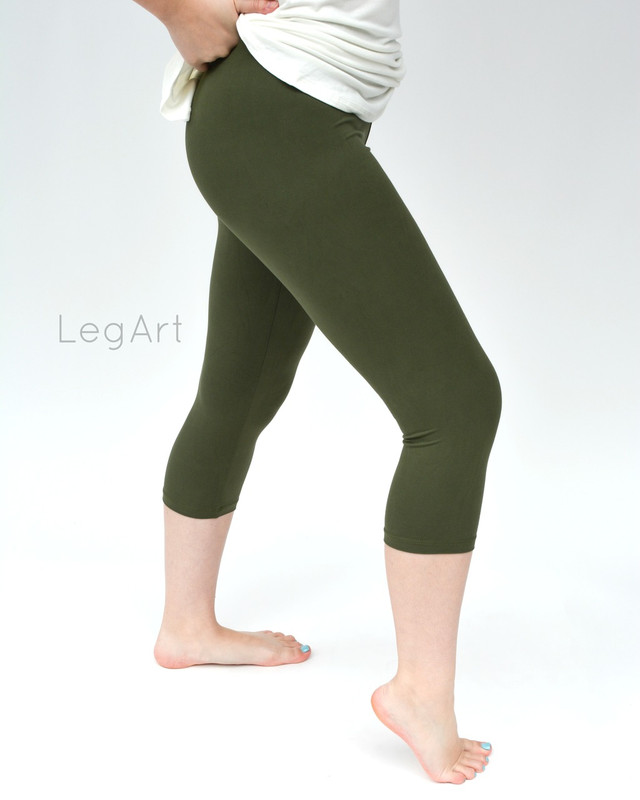 Olive Capri Leggings