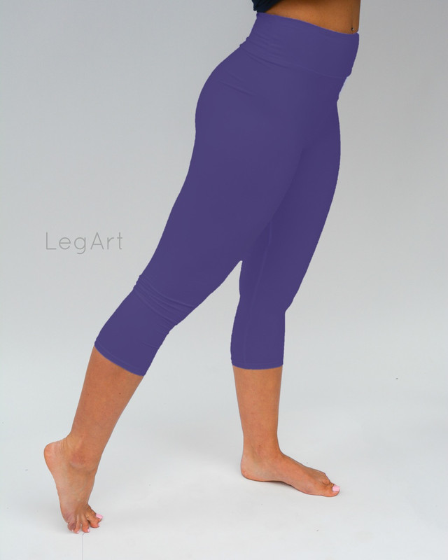 Royal Blue Yoga Capri Leggings