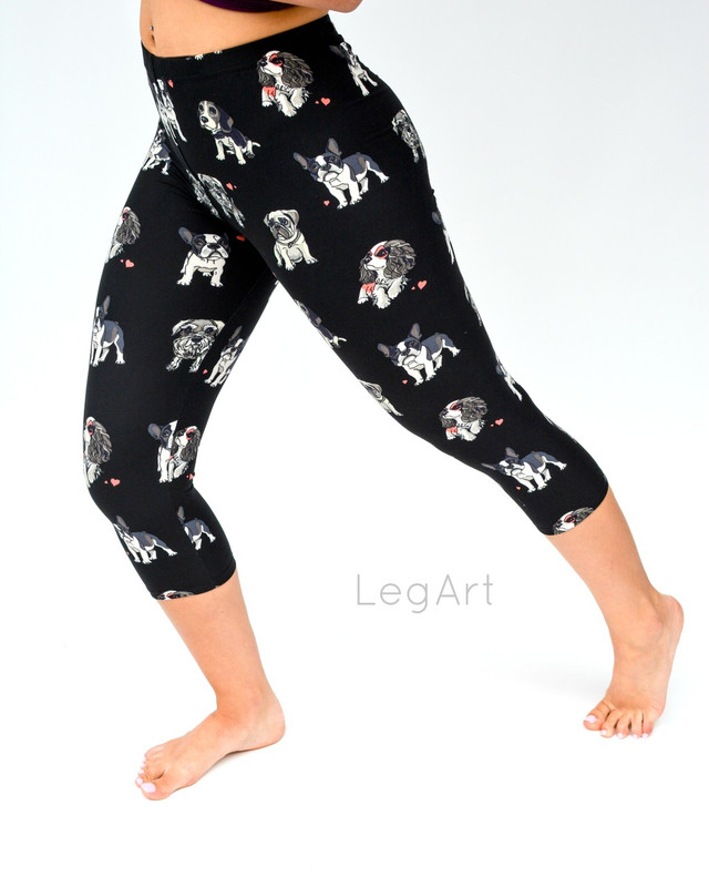 Happy Hounds Capri Leggings