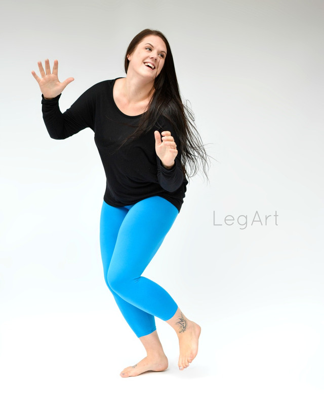 Sky Blue Yoga Capri