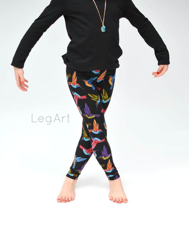 Hummingbird Frenzy Children's leggings