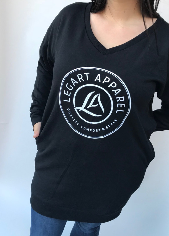 LegArt Iconic V-Neck Sweatshirt Black