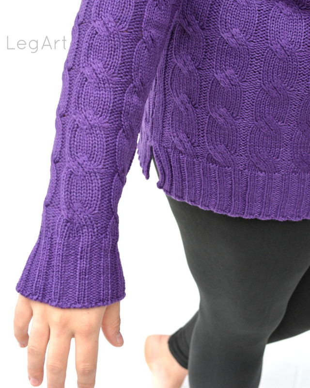 Cable-Knit Sweater Violet