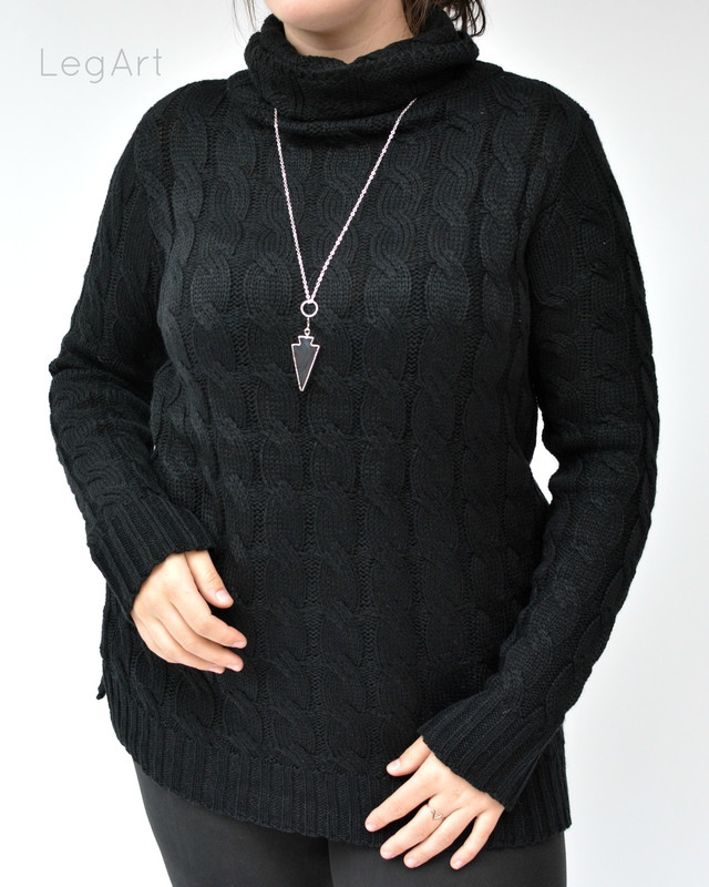 Cable -Knit Sweater Black