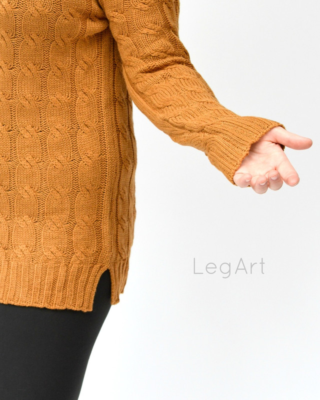 Cable -Knit Sweater Harvest