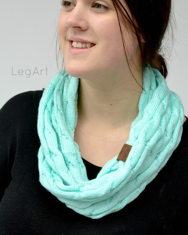 Classic Knit Scarf Turquoise