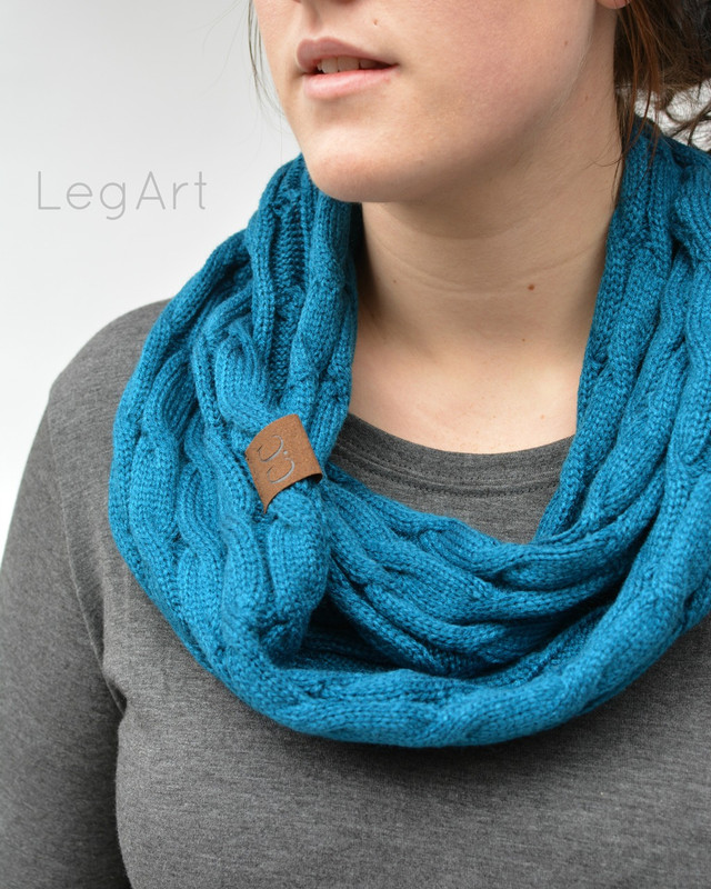 Classic Knit Scarf Teal