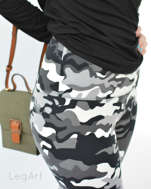 Camo B&W Fleece