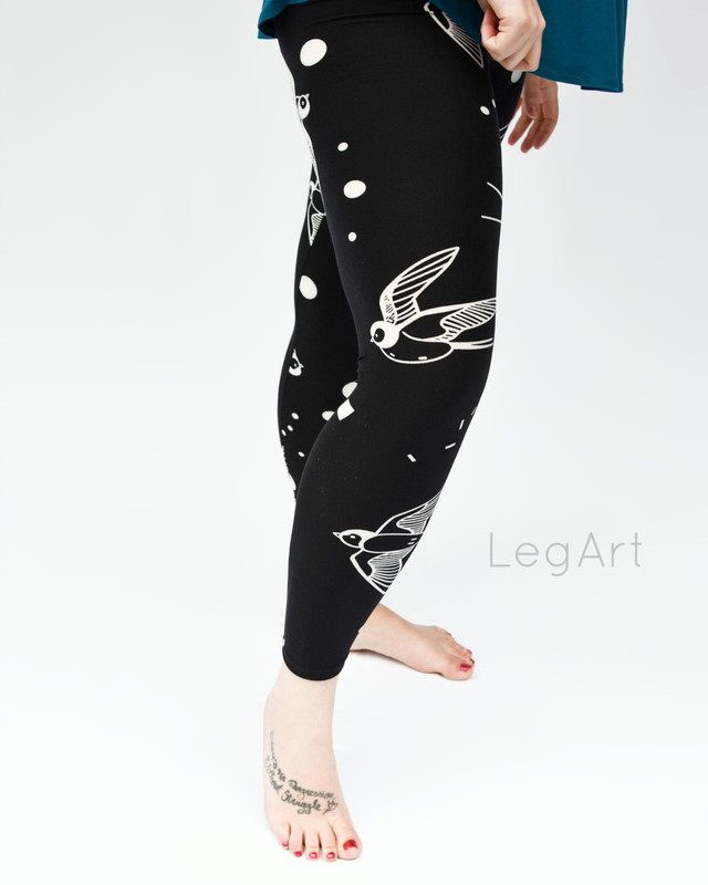 Swallowtail Birds leggings