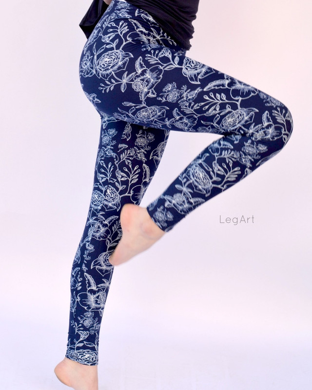 Blue on Blue Leggings