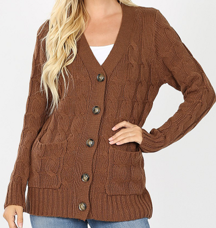 Knit Button Sweaters