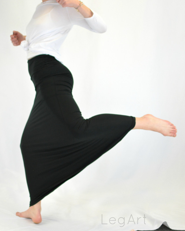 Maxi Skirt Black  (One Size Only)