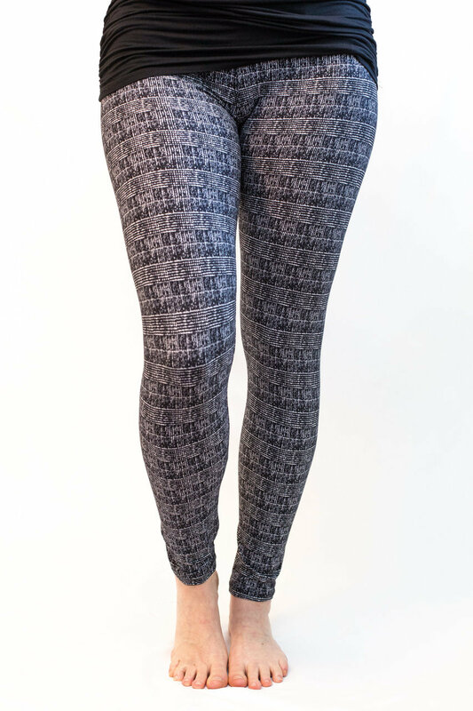 Tweed print in black and white in our super soft and cozy poly/spandex blend fabric. Like dress pants but the comfort of leggings! A great choice with a white or grey top and black moto jacket or blazer.