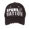 San Antonio Spurs Men's Zephyr Squad Spurs Nation Flexible Fit Hat