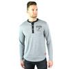 San Antonio Spurs Men's Sportiqe Jameson Long Sleeve Henley Tri-Blend T-Shirt