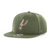 San Antonio Spurs Men's '47 Brand Captain Snapback Hat - Green with Gold Spur Logo