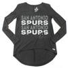 San Antonio Spurs Women's Sportiqe Holly Long Sleeve Tri-Blend T-shirt