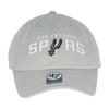 San Antonio Spurs Men's 47 Brand Wordmark Clean Up Hat - Gray