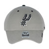 San Antonio Spurs Men's 47 Brand Primary Logo Clean Up Hat - Gray