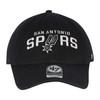 San Antonio Spurs Men's 47 Brand Wordmark Clean Up Hat - Black