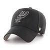 San Antonio Spurs Men's '47 Brand MVP Hat - Black With Spur Logo