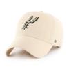 San Antonio Spurs Men's '47 Brand Clean Up Hat - Natural with Spur Logo