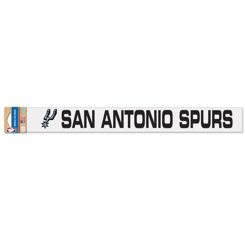 San Antonio Spurs Wincraft Wordmark Decal - 2x17