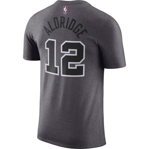 San Antonio Spurs Men's Nike Statement Dri-Fit Name & Number T-Shirt - LaMarcus Aldridge