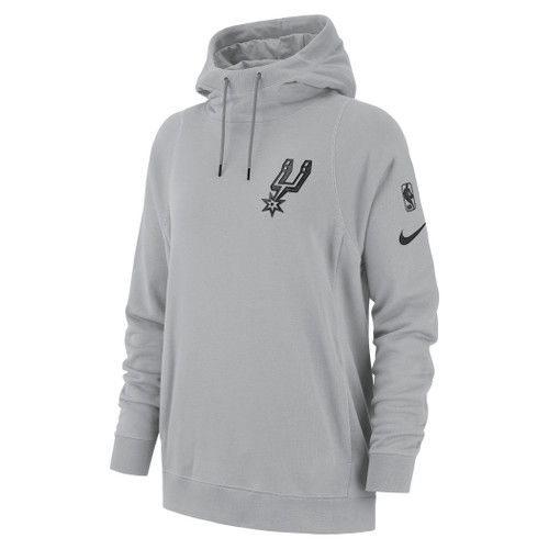 San Antonio Spurs Women's Nike Court Side Hoodie - Grey