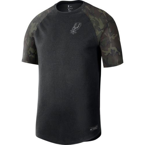 San Antonio Spurs Men's Nike Camo Sleeves T-shirt