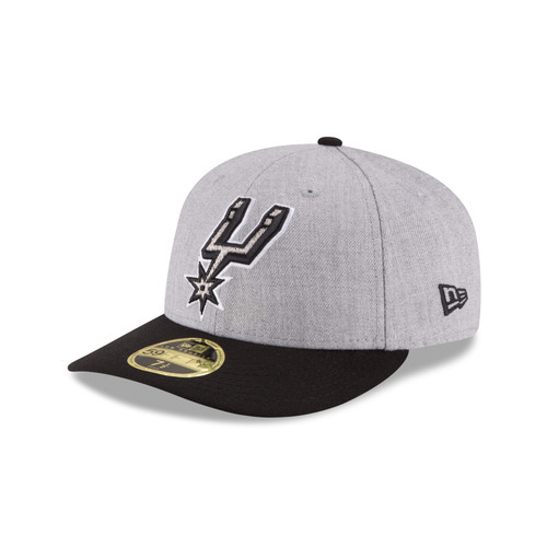 San Antonio Spurs Men's New Era Low Profile 59Fifty Fitted Hat - Heather Grey