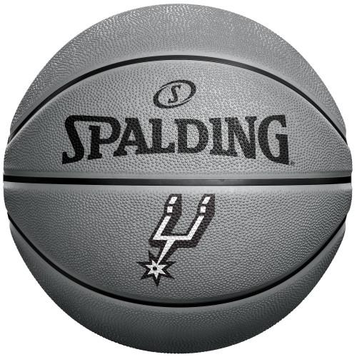 San Antonio Spurs Spalding Basic Silver B3 Mini Basketbal