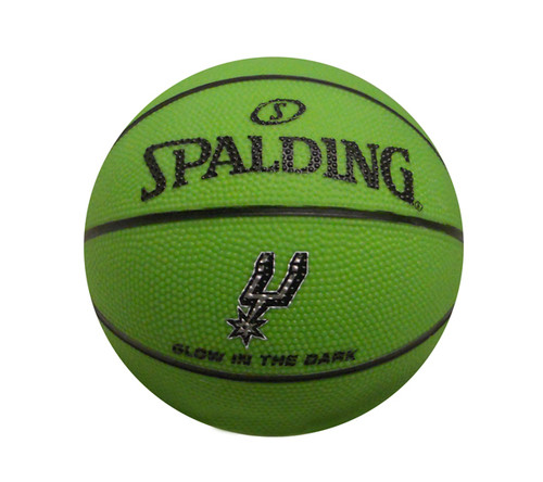 San Antonio Spurs Spalding Glow In The Dark Mini Basketball