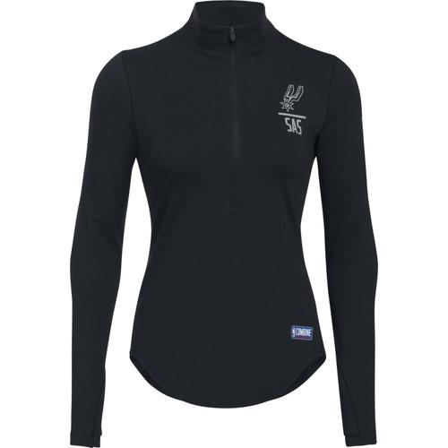 San Antonio Spurs Women's Under Armour Combine Authentic Logo Lockup Half Zip Pullover