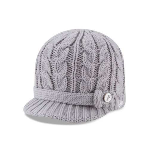 San Antonio Spurs Women's New Era Button Blast Knit Cap