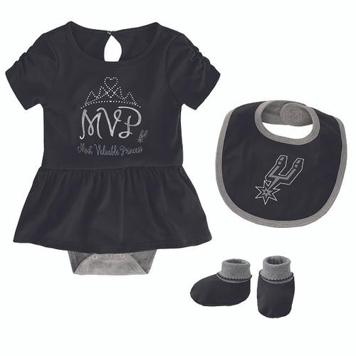 San Antonio Spurs Newborn Girls MVP Creeper Set