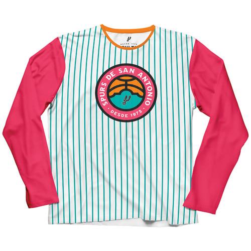 San Antonio Spurs La Cultura Collection Women's Long Sleeve Stripe T-Shirt