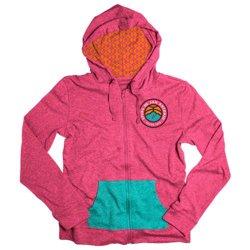 San Antonio Spurs La Cultura Collection Women's Full Zip Hoodie
