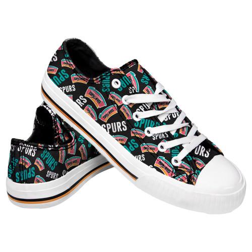 San Antonio Spurs Forever Collectibles Women's Canvas Hardwood Classic Shoes