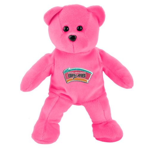 San Antonio Spurs Forever Collectibles Pink Plush Bear