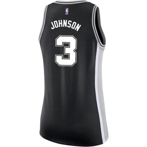 San Antonio Spurs Women's Nike  Icon Keldon Johnson Jersey