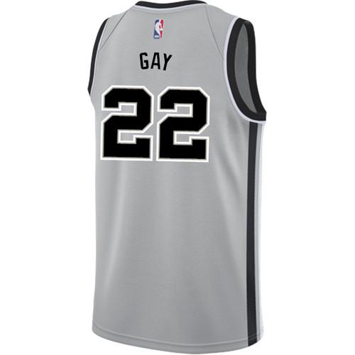 San Antonio Spurs Men's Nike Statement Edition Rudy Gay Jersey