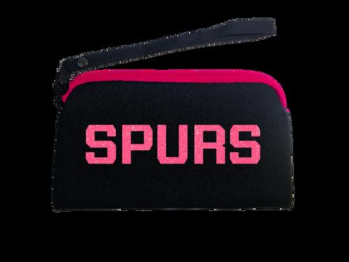 San Antonio Spurs Women's Titania Pink and Black Zipper Purse