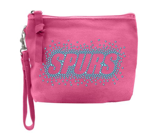 San Antonio Spurs Women's Titania Pink Zipper Purse