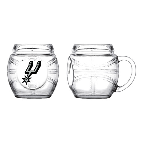San Antonio Spurs Sports Vault Basketball Glass